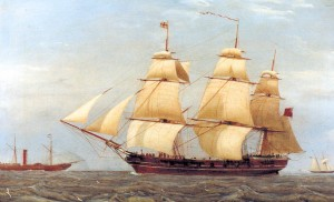 The 'Diadem' would have looked similar to this barque from the 1840s