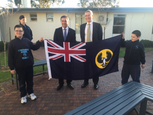 The State Liberal leader and Member for Norwood, Steven Marshall,  donated a    South Australian State Flag to be on display at the  Saturday 8 August  175th Anniversary Celebrations