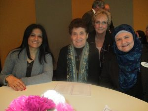 Namam Salih, Rose Colanero, Jan Addis and Joanne A at the Eid al-Adha event